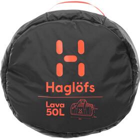 Haglöfs Lava 50 Duffel Bag True Black/Habanero